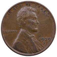 penny s 1939 s lincoln wheat cent very fine penny vf
