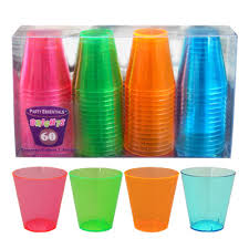 neon party supplies neon tableware party supplies 2oz neon glass assorted colors 60