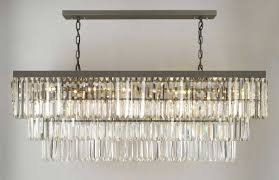 dining room lighting ideas using rectangular chandelier dining