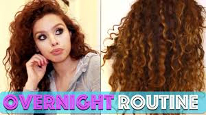 nice haircut for curly hair curly hair routine overnight edition youtube
