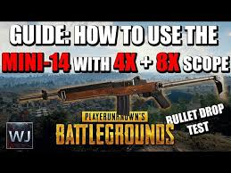 pubg 4x guide guide how to use the mini 14 with the 4x 8x scope in