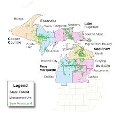 Porcupine Mountains State Park Map by Pere Marquette State Forest Wikipedia