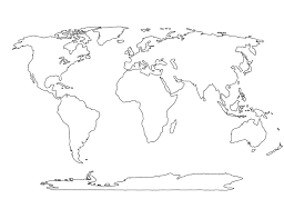 Outline World Map by Free Bw World Map Clipart Collection