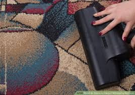 how to vacuum carpet 3 ways to clean a carpet without a vacuum wikihow