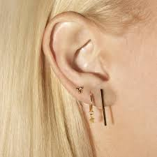 bar earrings bar stud earring and strand