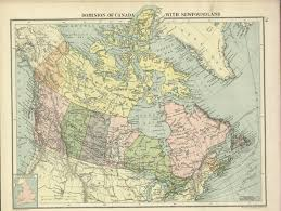 Vintage Map Vintage Map Of Canada Genealogy Lines 1600s Garnier Girouard