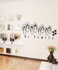 vinyl wall decal sticker sandal family 5033