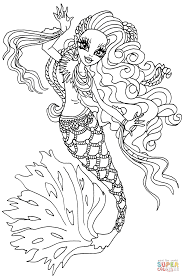 sirena von boo coloring page free printable coloring pages