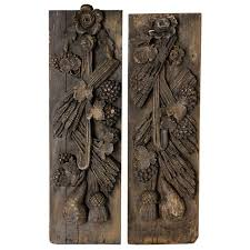 pair antique carved wood wall panels at 1stdibs