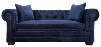 sofa navy velvet sofa blue velvet chesterfield sofa
