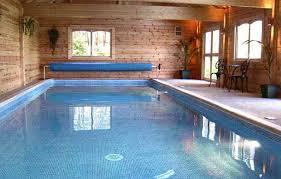 inside swimming pool log cabing lodge