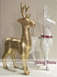 Paper Mache Ideas For Home Decor Christams Decor U2013 Paper Mache Snow Reindeer Being Home Decor
