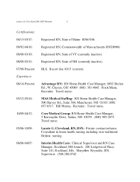 Rn Case Manager Resume Laurie G