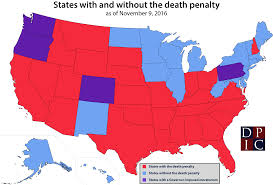 Nebraska State Map by States With And Without The Death Penalty Death Penalty