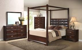 Canopy Bedroom Sets crown mark jacob queen canopy bed with upholstered headboard