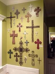 decorative crosses for wall chic white wooden cross wall decor my cross wall metal wall decor