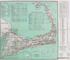 cape cod road map print antique maps and charts u2013 original
