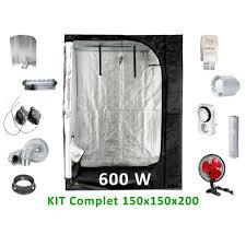 kit chambre culture kit de culture complet 600w 150cm achat vente chambre de