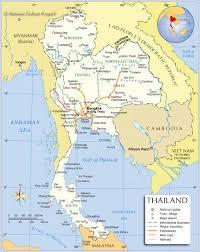 Thailand World Map by Thai Map Bangkok