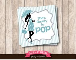 instant download printable ready to pop tags with umbrella