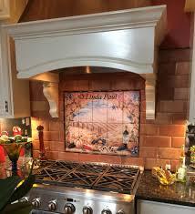 kitchen italian tile murals tuscany backsplash tiles tuscan arch