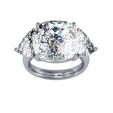 cushion cut diamond engagement rings 15 ct cushion cut trellis design natural diamonds engagement ring gia