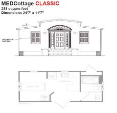 medcottage classic floor plan aging in place pinterest tiny