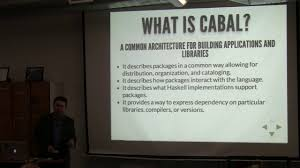 nyc haskell cabal all the things with josh hawkins on vimeo