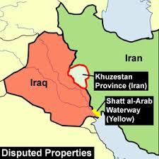 map iran iraq iran iraq war
