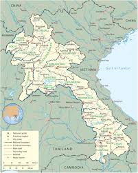 Laos World Map by Map Laos Vientiane Asia