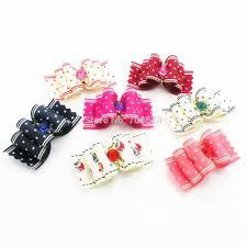 dog ribbon aliexpress buy 300pc lot dog hair bows mixed grooming bows