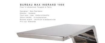 bureau original design swildens max ingrand par furdess réédition du bureau inox de 1966