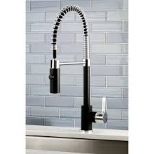 spiral kitchen faucet black chrome modern spiral pulldown kitchen faucet free