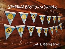simpsons birthday ideas birthday banner duff