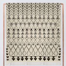 Cream And Black Rugs Hand Knotted Wool Rugs Black And Cream Moroccan Rug U2013 The Citizenry