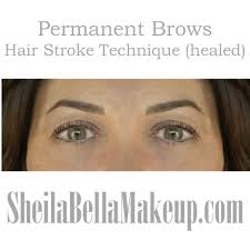 Permanent Makeup Eyebrows Hair Stroke Soft Natural Hair Stroke Eyebrows Sheila Bella Permanent Makeup