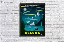 Alaska travel wiki images The last frontier alaska travel poster vintage poster canvas jpg