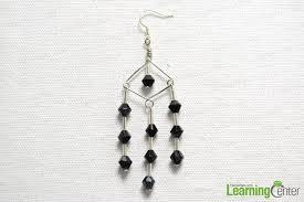 White Chandelier Earrings How To Make Black And White Dangling Chandelier Earrings