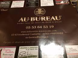 adresse bureau l adresse du restaurant picture of au bureau marmande tripadvisor