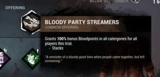 party streamers bloody party streamers deadbydaylight