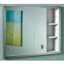 sliding door medicine cabinet nutone b703850 contempora sliding door recessed cabinet homeclick com