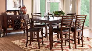 riverdale cherry 5 pc square counter height dining room dining