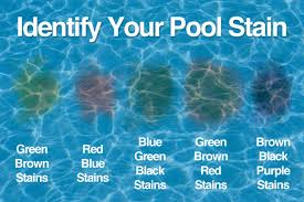 how to identify and remove pool stains