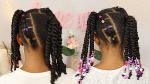 2 ponytails 2 strand twists kids natural hairstyle youtube