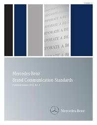 mercedes corporate mercedes brand standards by brand books issuu