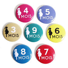 future maman assortiment mois badges future maman