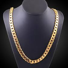 cuban chain necklace gold images Cuban chain necklace yellow gold filled stamp 18k the sparkle place jpg