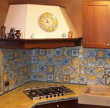 painted tiles for kitchen backsplash handmade italian tiles kitchen backsplash tile panels thatsarte