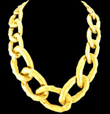 large gold link necklace images Gold large link necklace bijoux treasures by ingabijoux png