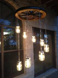 Canning Jar Lights Chandelier Spiral Wagon Wheel Mason Jar Chandelier Small